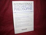 Internationale Zeitschrift für Philosophie - Heft 2  2002